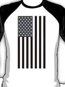 Greyscale American Flag  T-Shirt