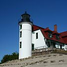 Pointe Betsy Light, Lake Michigan by Robert Former