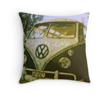 VW Van ©2002 W.Cook Throw Pillow