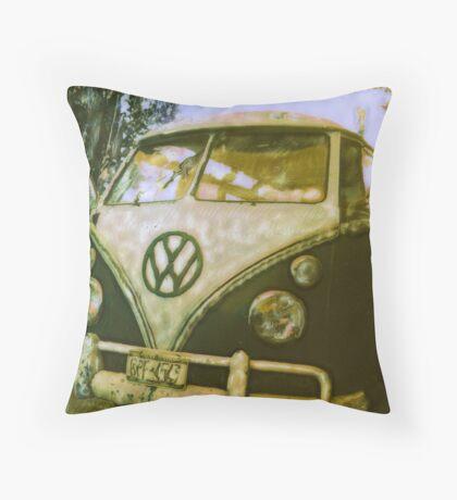 VW Van ©2002 W.Cook Throw Pillow