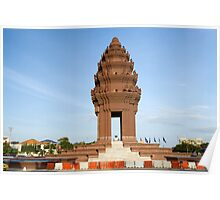 Independence Monument in Phnom Penh Poster