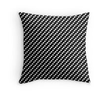 2 bit squares (black and white) Throw Pillow