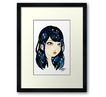 Starry-eyed in space  Framed Print