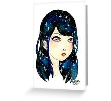 Starry-eyed in space  Greeting Card