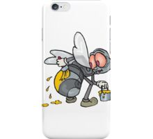 Funny Bee Illustration iPhone Case/Skin