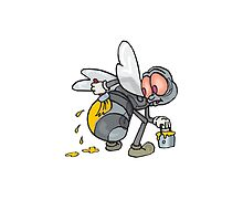 Funny Bee Illustration by tshirtdesign
