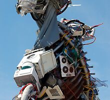 WEEE MAN Recycled Waste Electrical and Electronic Equipment Robot by HotHibiscus