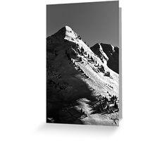 Morzine Views single mountain away from Mont Blanc Greeting Card
