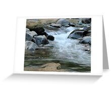 Stream and Rocks Greeting Card
