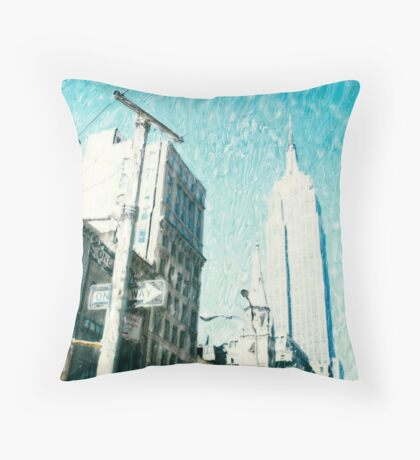 Fifth Avenue ©2002 W.Cook Throw Pillow