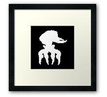 Scrab (white) Framed Print