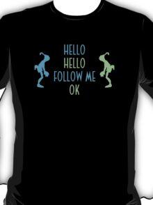 Abe's Hello (Blue & Green) T-Shirt