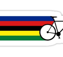 Rainbow Jersey (bicycle racing) Sticker