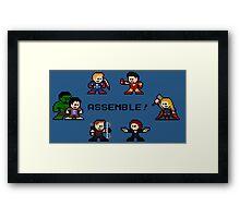 8-bit Avengers Assemble! Framed Print