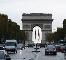 Middle of Champs Elysees by bambam775