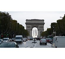 Middle of Champs Elysees Photographic Print