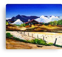 Salt Works - Port Alma Canvas Print