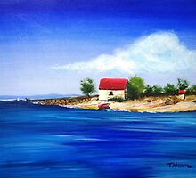 Sea Hill Boatshed by Therese Alcorn