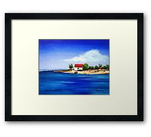 Sea Hill Boatshed Framed Print