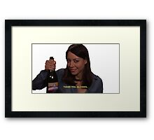 Thank You Alcohol  Framed Print