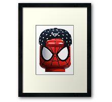 Lego Spiderman having a day off Framed Print