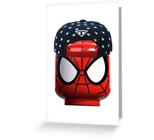 Lego Spiderman having a day off Greeting Card