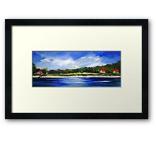 Sea Hill Houses Framed Print
