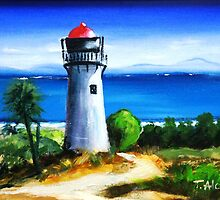 Sea Hill Lighthouse by Therese Alcorn