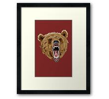 Grizzly Bear (Red) Framed Print