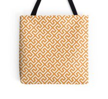 Straight Single Line Fresh Orange Tote Bag