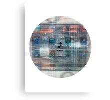 Damaged glitchy displays turned into art Canvas Print