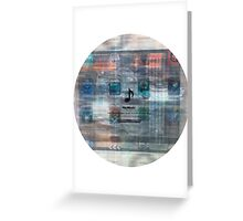 Damaged glitchy displays turned into art Greeting Card