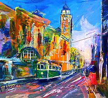 Melbourne Tram by Therese Alcorn