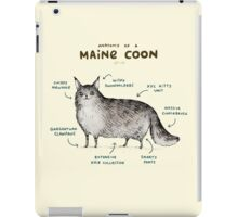 Anatomy of a Maine Coon iPad Case/Skin