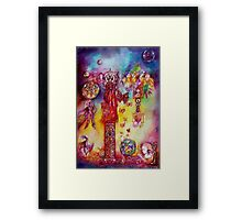 GARDEN OF THE LOST SHADOWS ,FAIRIES AND BUTTERFLIES Framed Print