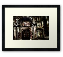 Vintage Cathedral Doors Framed Print