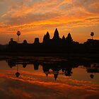 Pre Dawn at Angkor Wat, Cambodia by Bev Pascoe