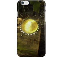 Hat on the tree trunk iPhone Case/Skin