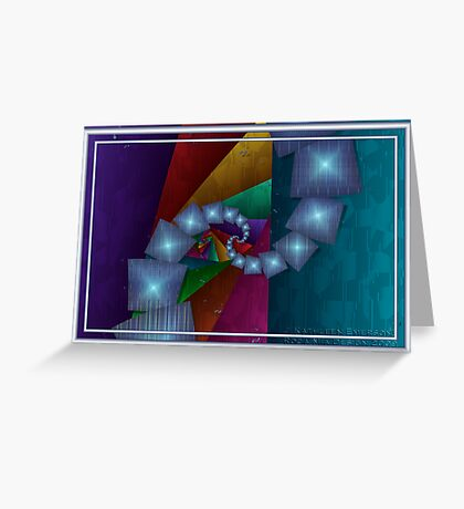 Fractal Cubism Greeting Card