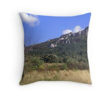 Chateau de Peyrepertuse Throw Pillow