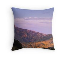 Chateau de Queribus Throw Pillow