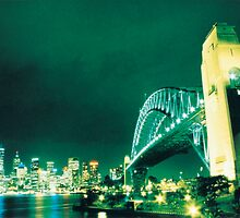 Sydney Harbour Bridge - Cross Processed by Sean Pinwill