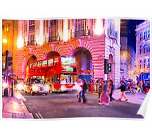 Nights in Piccadilly Circus - London Poster