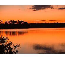 sunset on Lake Sandoval, Madre de Dios, Peru Photographic Print