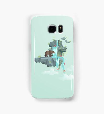 Low Poly Bear Fishing for Salmon Samsung Galaxy Case/Skin