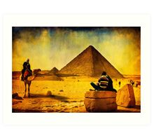1001 Nights - Tales from Egypt - The Pyramids Art Print