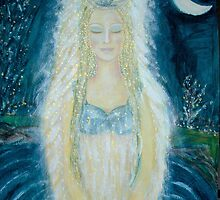 A mermaid´s prayer in the moonlight by Lilaviolet