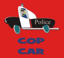 Cop Car - Watch Out design One Piece - Short Sleeve