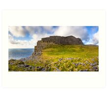Dun Aengus Ring Fort - Ancient Irish Ruins Art Print