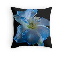 delphinium flower Throw Pillow